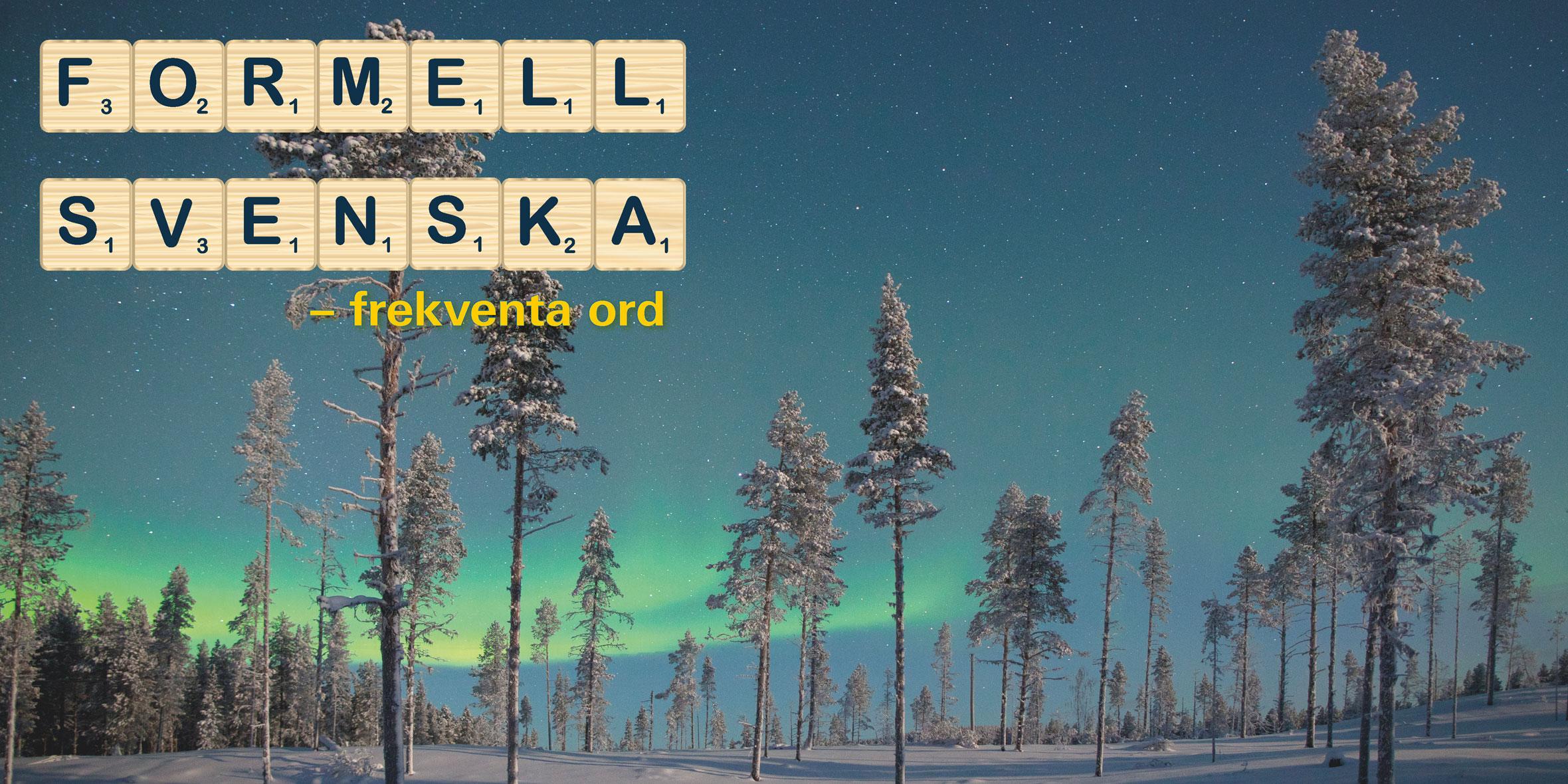 Formell svenska – frekventa ord